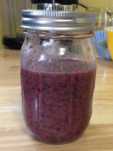 Banana berry flaxseed gluten free smoothie!