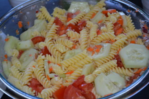Gluten free pasta salad courtesy of my sister-in-law.
