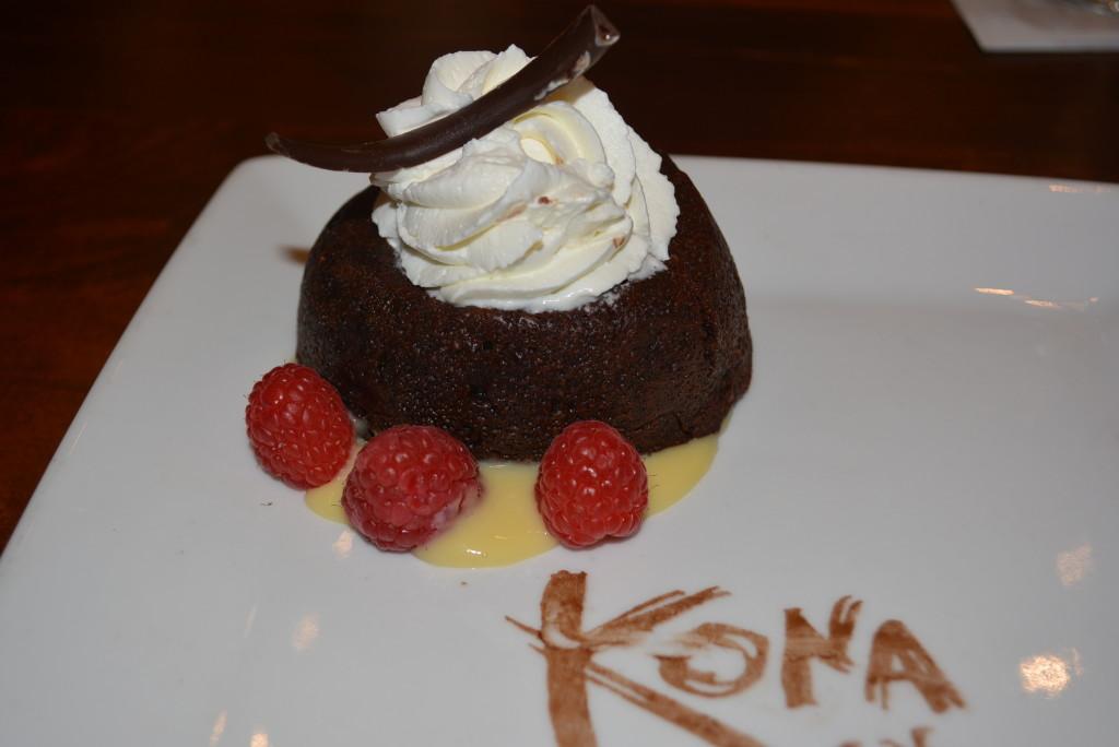 Kona Cafe's gluten free chocolate torte.