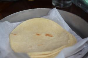 Homemade gluten free corn tortillas.