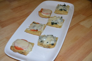 Carefully remove hot appetizers and add to serving dish.