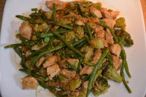 Gluten Free Chicken & Green Veggie Stir Fry