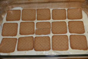 Second layer of gluten free graham crackers.
