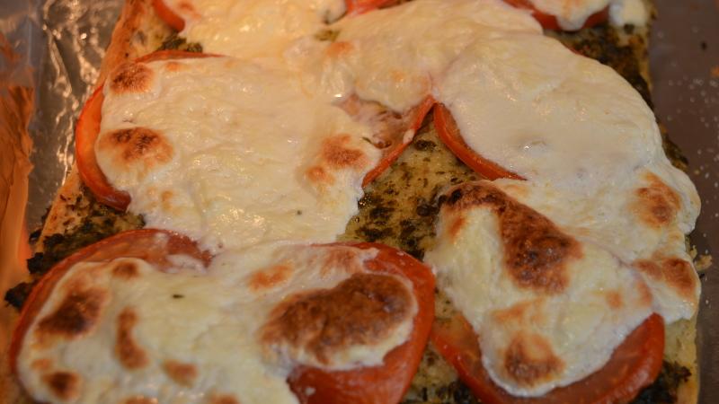 Burrata Focaccia Pizza