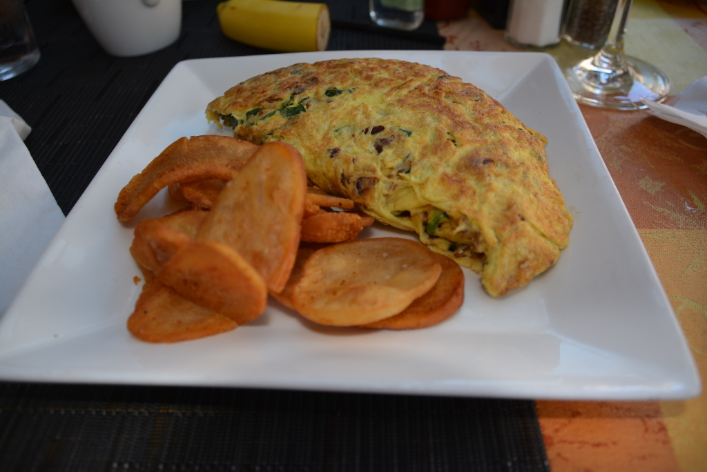 Scion's omelet with breakfast potatoes.