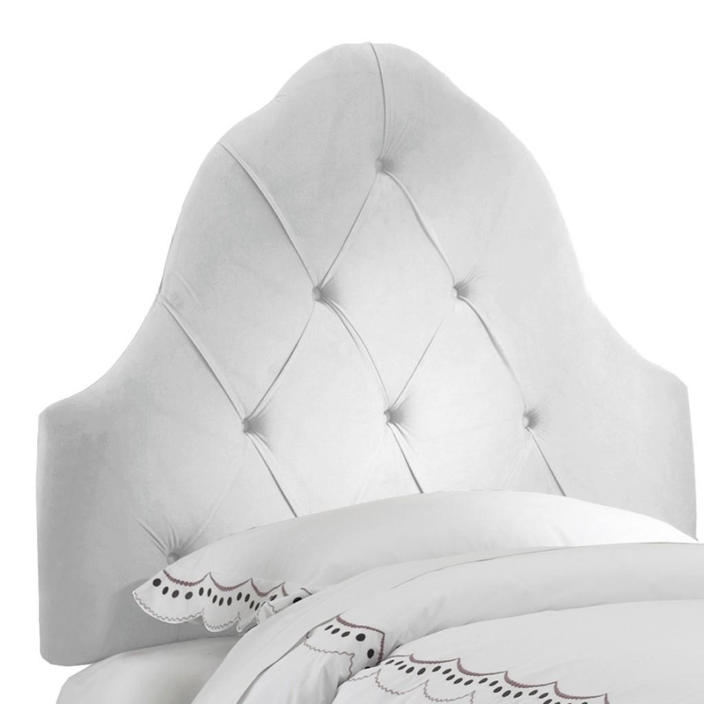 White Tufted Headboard