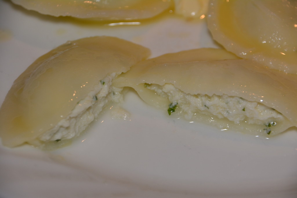 Pastosa's Gluten Free Ravioli stuffed with a perfect ricotta mixture.