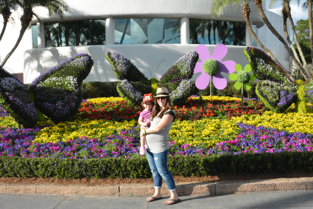 Mommy & little one love by the butterfly topiaries!