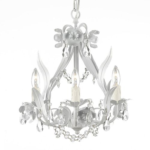 Gorgeous mini chandelier, perfect for any bedroom!